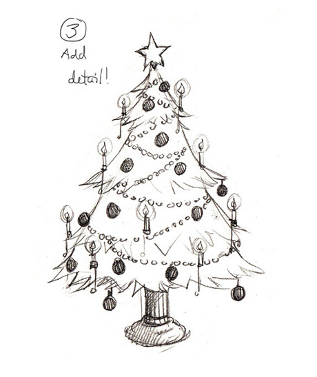 Pencil Drawing Of Christmas Tree: The Story Elves - Help With