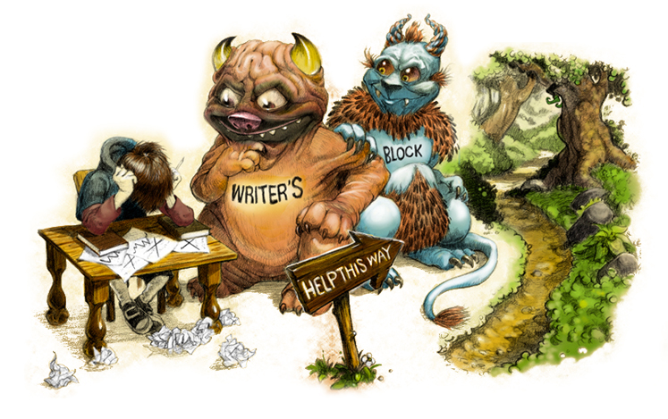 Writer's block help this way!   The Story Elves - Help with writing, editing, illustrating and designing your own stories