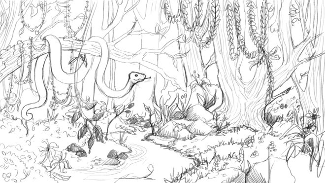 Line Art Jungle : Let s talk scenery the story elves help with writing