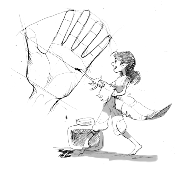 How to draw small hands | The Story Elves - Help with writing, editing, illustrating and designing your own stories