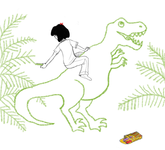 story_elves_drawing_dinosaurs_2nd_panel