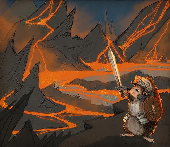 story_elves_sketch_setting_hedgehog_battle_web